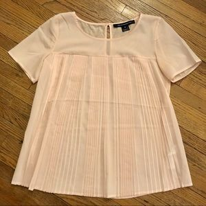 French Connection | Like New Blush Pleated Blouse